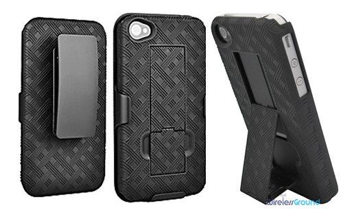 wirelessground iphone4 holster case combo
