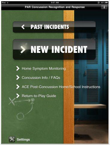 concussion recognition app ios