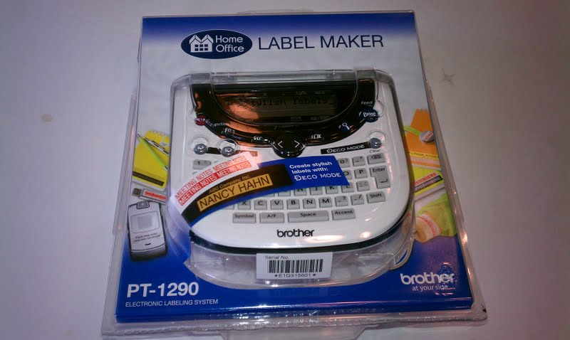 The PT1290 Labeler by Brother.  Not your mama's punch and dial labeler.