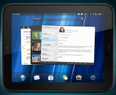 HP touchpad 1