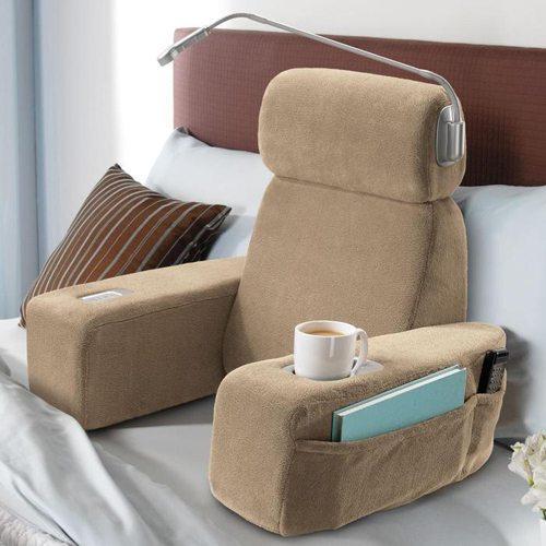 massaging bed rest pillow