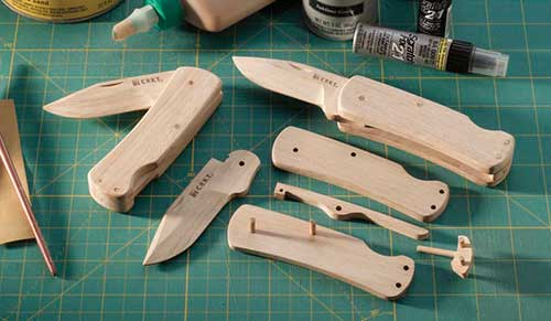 wood pocket knife
