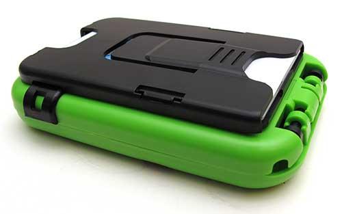 Plastic credit card holder for wallet
