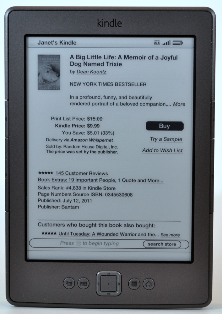 Amazon Kindle e-Reader Review – The Gadgeteer