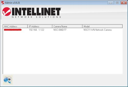 The included administration application lets you identify cameras on the network and find their IP address.