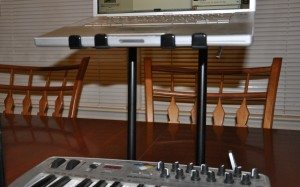 The Crane Stand Pro can give you a lot of room between your work surface and the gear it's holding up.