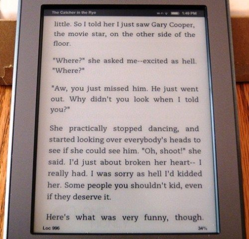 Amazon Kindle Touch Review – The Gadgeteer