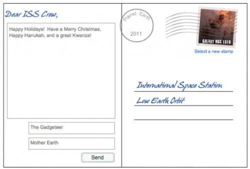 send an electronic holiday greeting card to the crew of the
