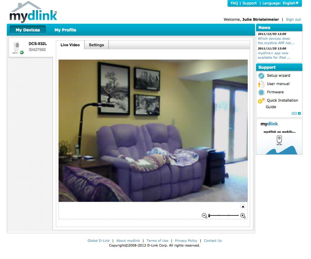 D-Link Wireless N Day/Night Home Network Camera (DCS-932L