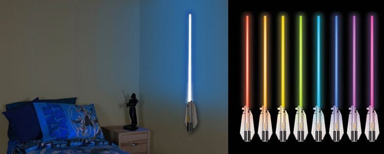 The Lightsaber Room Light Is Your Nightlight The Gadgeteer