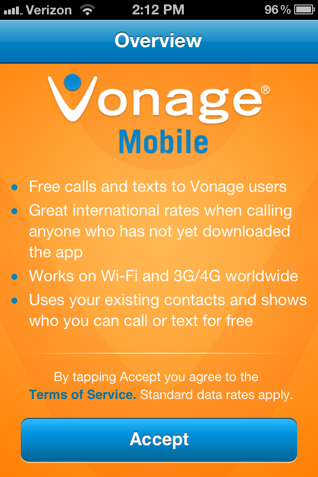 Vonage Mobile VoIP Calling App Review – The Gadgeteer