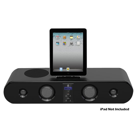 300w five speaker sound bar docking system for ipod. Black Bedroom Furniture Sets. Home Design Ideas