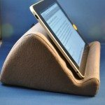 The Wedgestand holds an iPad in landscape mode very securely.