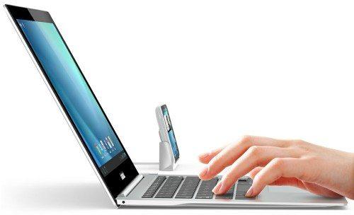 clambook laptop dock for smartphones