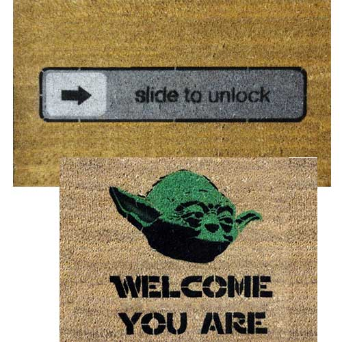 You know you re a geek when you have a yoda doormat the gadgeteer - Geeky welcome mats ...