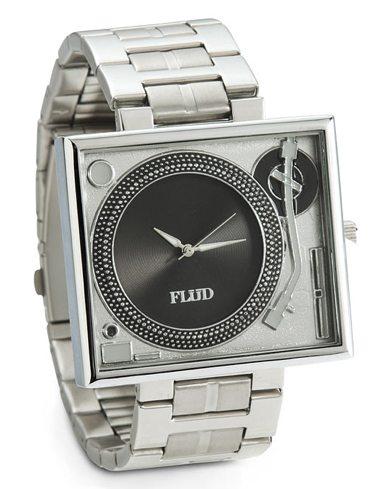 turntable metal watch
