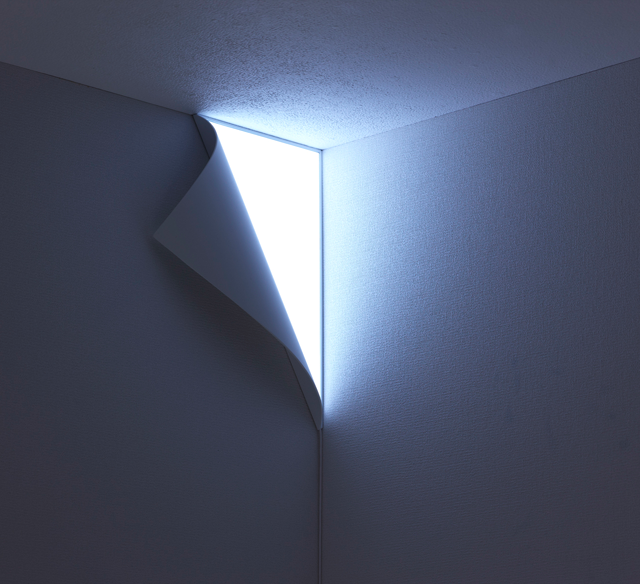 Photos Of Wall Lights : Peel Wall Light Has You Cornered The Gadgeteer