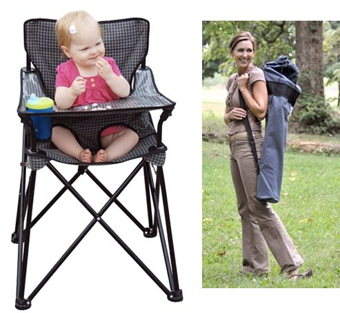 Folding Chairs on Collapsible High Chair