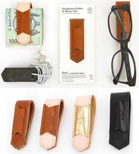 mochithings leather clip