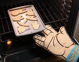 star trek oven mitt