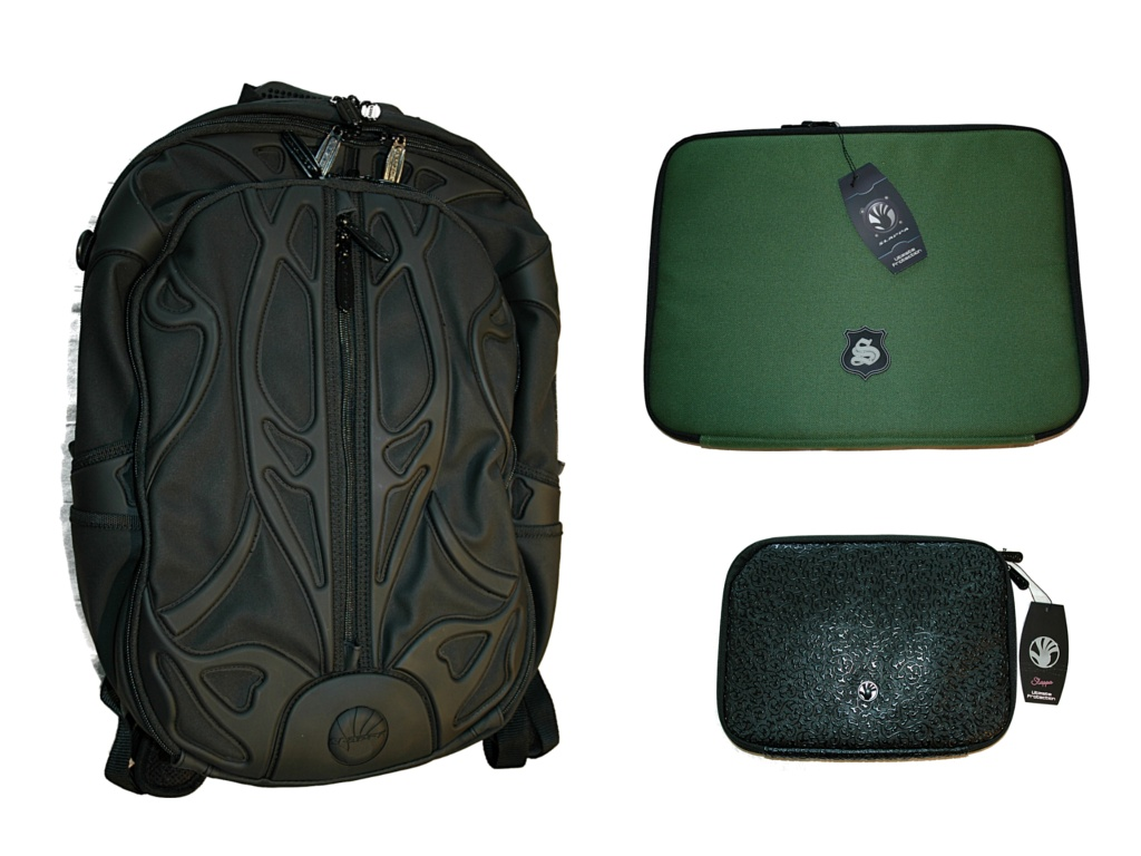 SLAPPA Velocity SPYDER PRO laptop backpack, Green Manalishi padded ...
