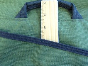 Rear pocket depth