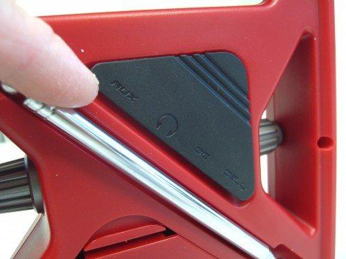 Closeup of flap