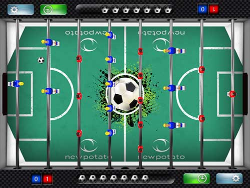 New Potato Technologies Foosball table for iPad review – The Gadgeteer