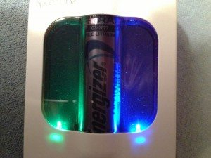 Multi-colored LEDS blink to inform you of signal and battery status.