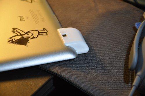 The SoundBender fits flush on the Third Generation iPad.