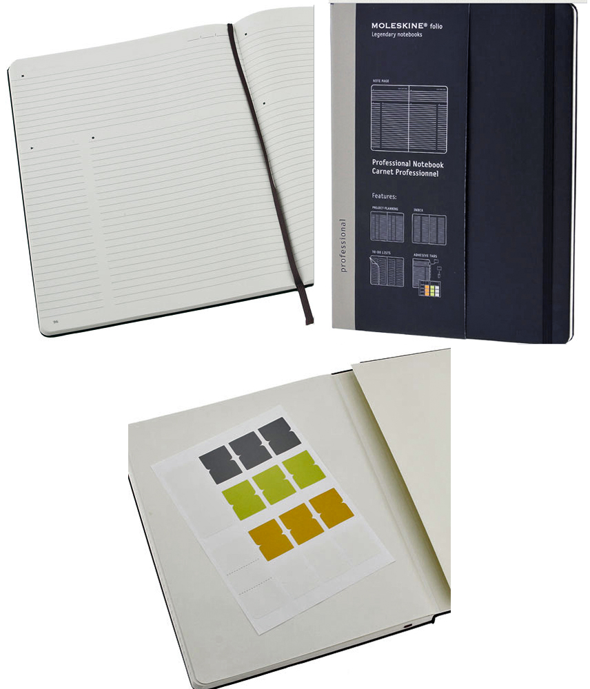 Organize Your Work Projects In Moleskine Professional