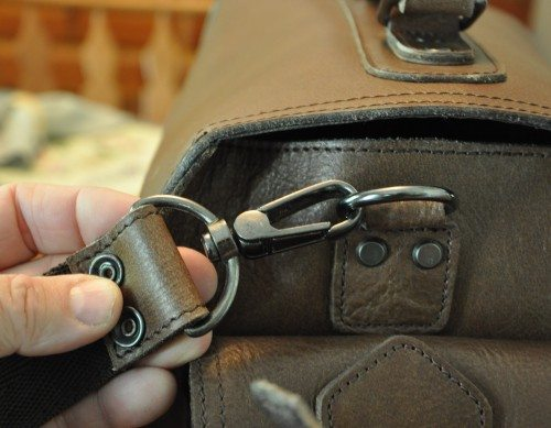 The strap clip swivel is very smooth and heavy duty. Attachment points are double-riveted.