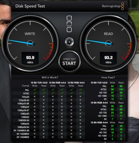 Speed test for internal system disk in the Mac Mini