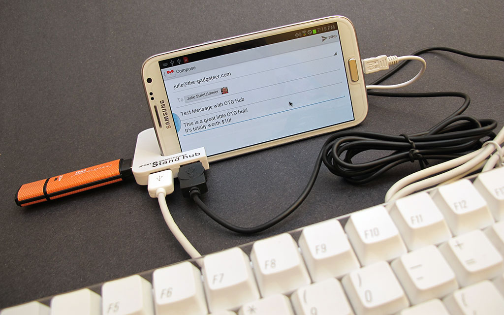 Brando MicroUSB OTG 3 Port Hub with Smartphone Stand review – The