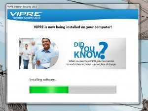 vipre-installing