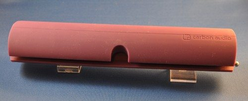 The Zooka is an oval tube, with a slot down one side to attach to a screen or tablet.