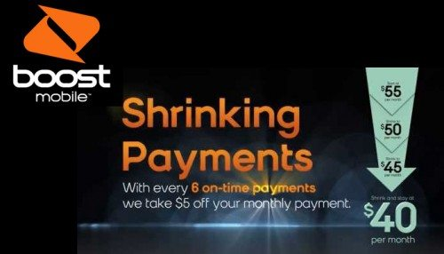 boost mobile shrinking payments