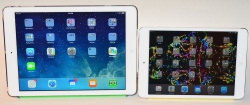 iPad Air (left) and iPad mini with Retina display (right)