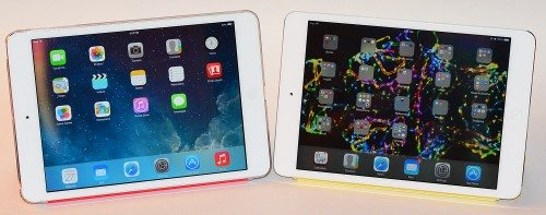 First-gen iPad mini (left), iPad mini with Retina display (right)