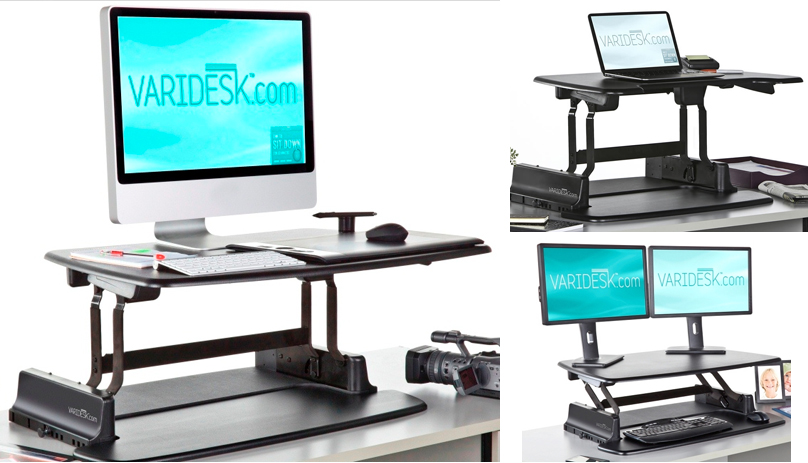 easily convert your conventional desk to a standing desk without rh the gadgeteer com convert work desk to standing desk convert desktop to standing desk