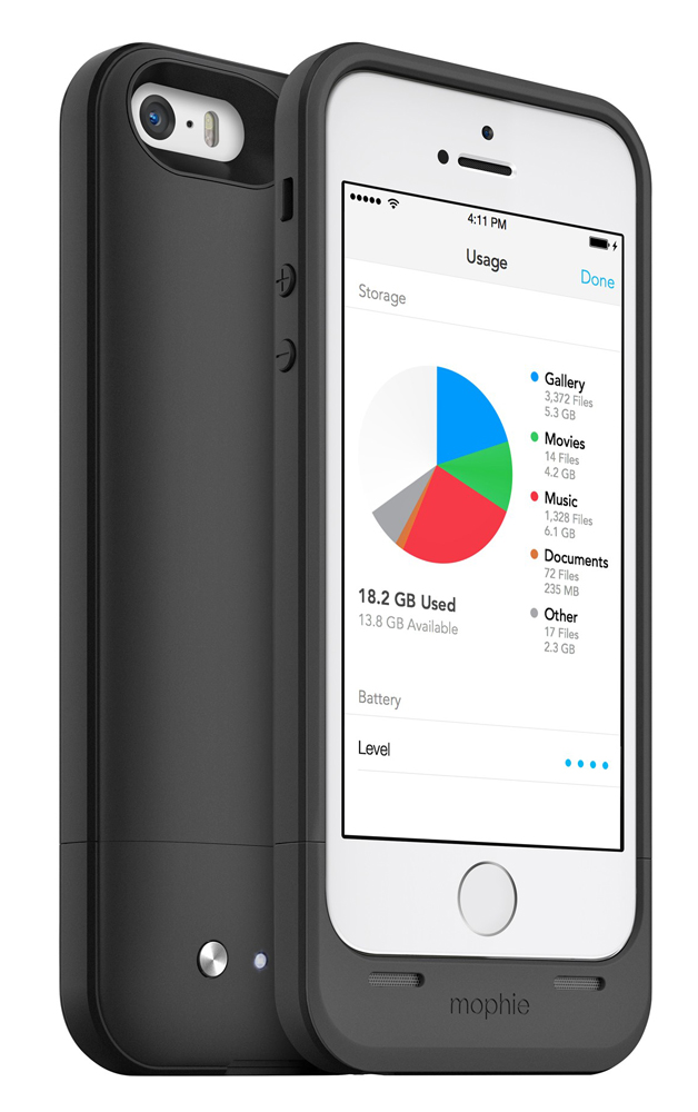 iphone 5s storage add storage and power to your iphone 5 5s with the 11254