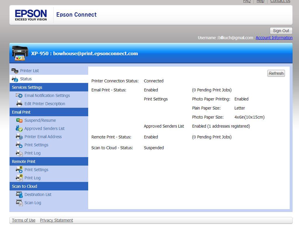 Remote Printer Driver Epson