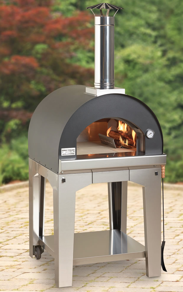 ... bother with delivery? Make your own pizza in this wood-burning oven