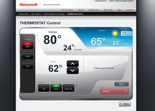 Honeywell Wi-Fi Smart Thermostat-8