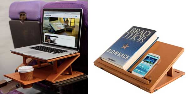 Aero-Tray allows you to maximize airplane tray table space