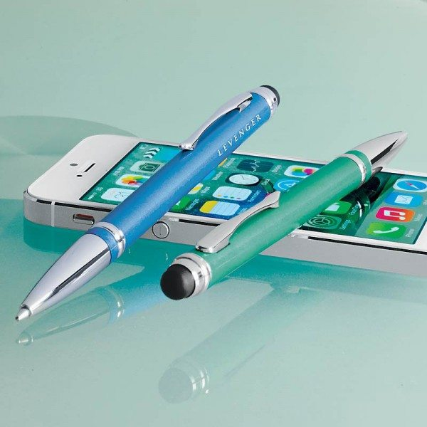 Dual function pen and stylus from Levenger adds some color to your day