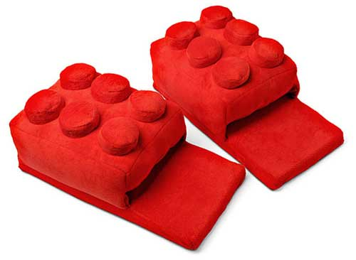 Stepping on a LEGO brick won't hurt if you're wearing these slippers