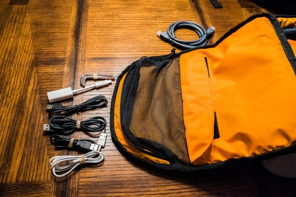 30) Cables out of the pocket