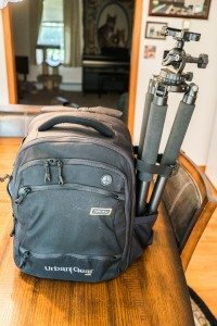 36) Full bag with tripod