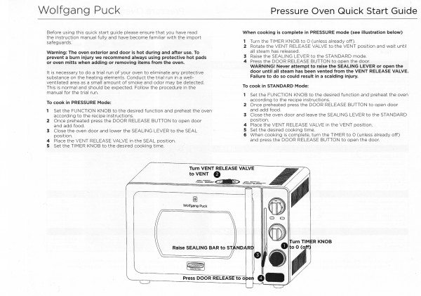 Wolfgang Puck Pressure Oven Review The Gadgeteer
